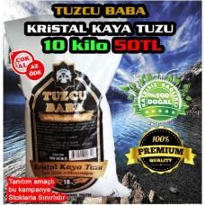 10kg Sofralık Doğal Kristal Kaya Tuzu 84 mineralli