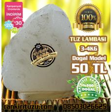 Kristal Kaya Tuzu Lamba Doğal Model 3-4 kg arası